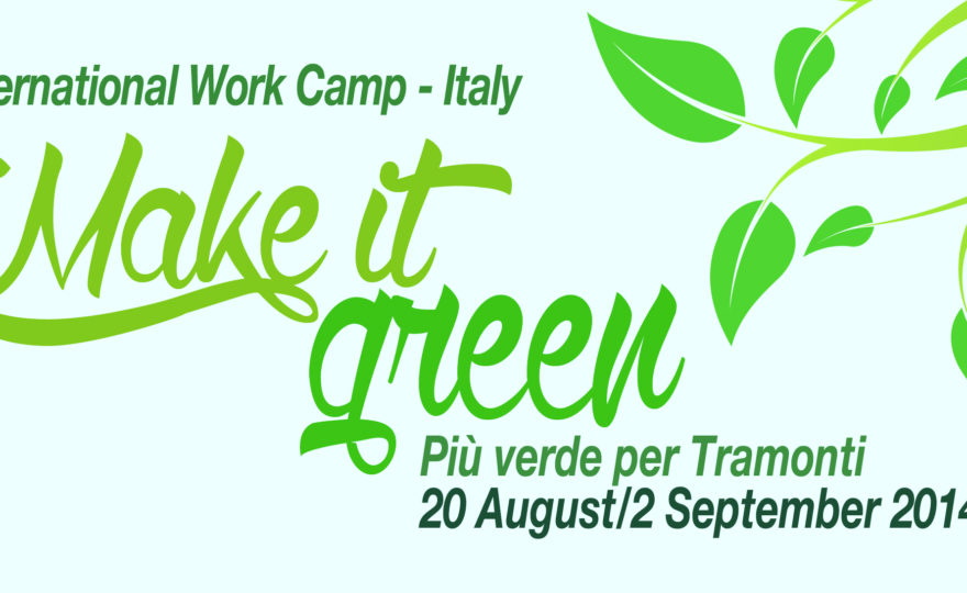 MAKE IT GREEN – Prima Edizione