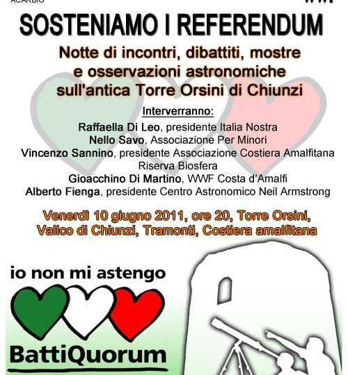 Sosteniamo i referendum