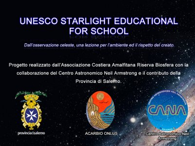 Unesco Starlight Educational for School: lezioni on line di astronomia per gli studenti della provincia di Salerno
