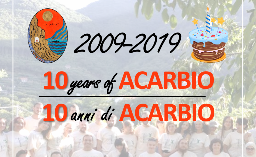 10 YEARS OF US, 10 YEARS OF ACARBIO!